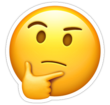 emoticon pensando